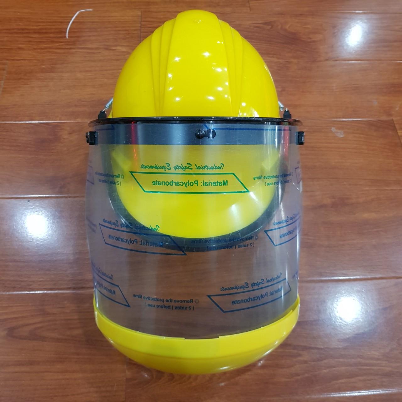 Nón kết hợp có kính  FC - bảo vệ đầu - chống bụi - ngăn tia cực tím - hình thật
