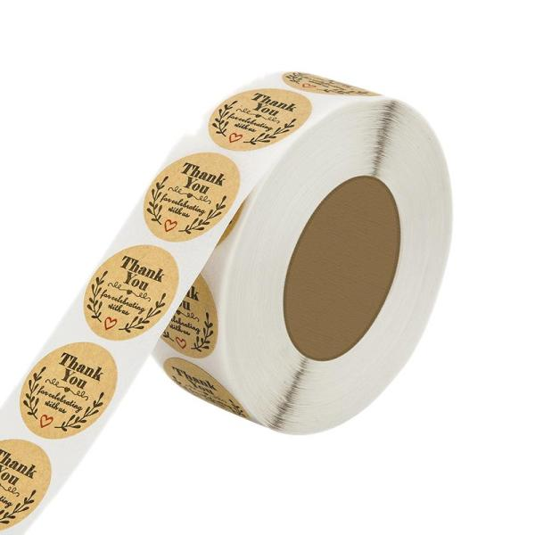 Mua 500 Thank You Stickers Scrapbooking Label Wedding Stickers Adhesive Sticker Kraft Round Labels 8x5x4cm