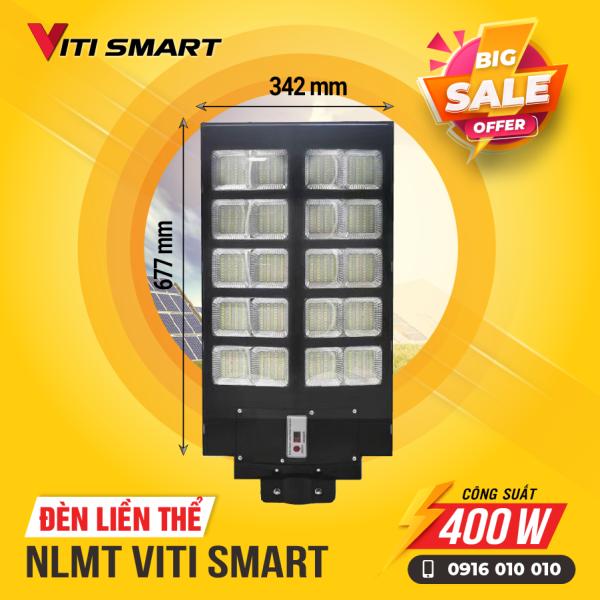 Bảng giá đèn liền thể  năng lượng mặt trời VITI SMART công suất 400w.cảm biến chuyển động  .đèn ngoài trời liền tấm pin năng lượng mặt trời .đèn năng lượng mặt trời VITI SMART