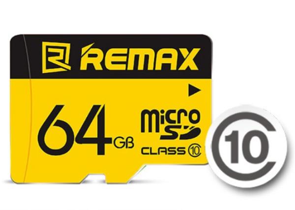 Thẻ Nhớ MicroSD Remax 64Gb Chuyên Dụng Cho Camera Ip Và Điện Thoại (Class 10, Uhs-1) - Bảo Hành 01 Năm