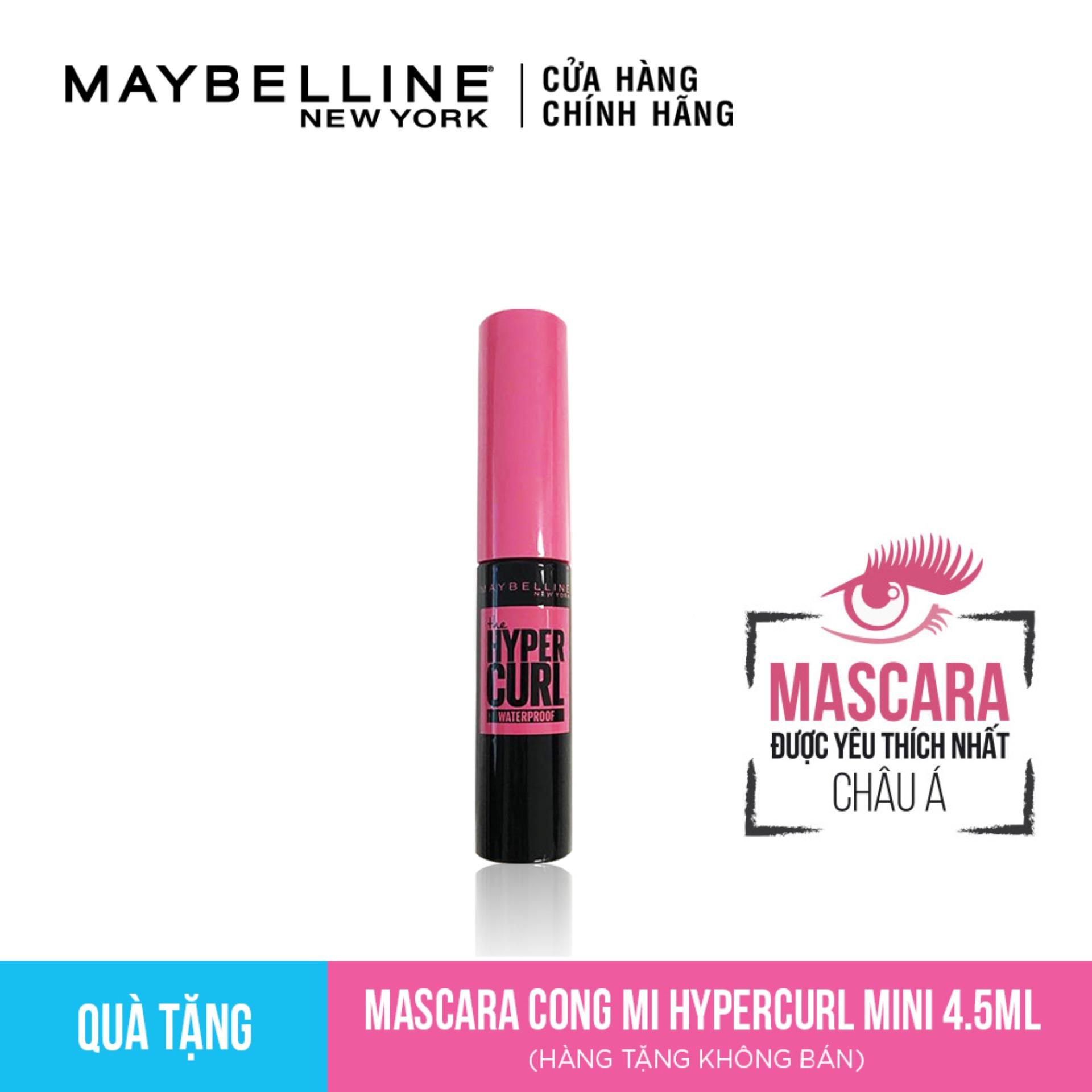 [HB Gift] Mascara Làm Cong Mi Maybelline Hyper Curl Mini 4.5 ml cao cấp