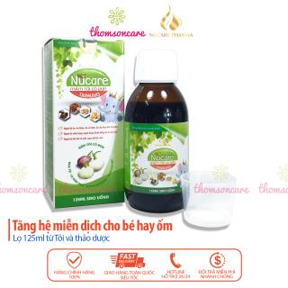 Siro Nucare tinh chất mầm tỏi - Hỗ trợ giảm ho, tăng sức đề kháng cho bé từ dầu tỏi, la hán quả, thymodulin thumbnail