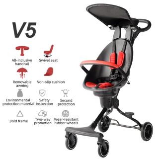 Xe đẩy gấp gọn 2 chiều Baobaohao V5 có mái che cho bé - TẶNG KÈM ĐÀN XYLOPHONE 8 THANH CHO BÉ, Xe Đẩy Cho Bé, Xe Đẩy Trẻ Em, Xe Đẩy Du Lịch thumbnail