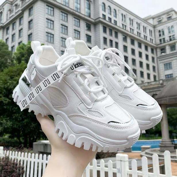 (2 MÀU) giày thể thao nữ FASHION gót bạc siêu cá tính hót hít mã giá rẻ