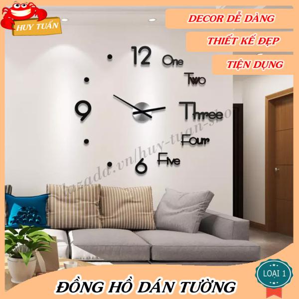 Nơi bán Đồng hồ dán tường trang trí nhà cửa (DHD40) Huy Tuấn