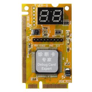Notebook Diagnostic Card 2-Digit Mini PCI PCI-E LPC POST Analyzer Tester thumbnail