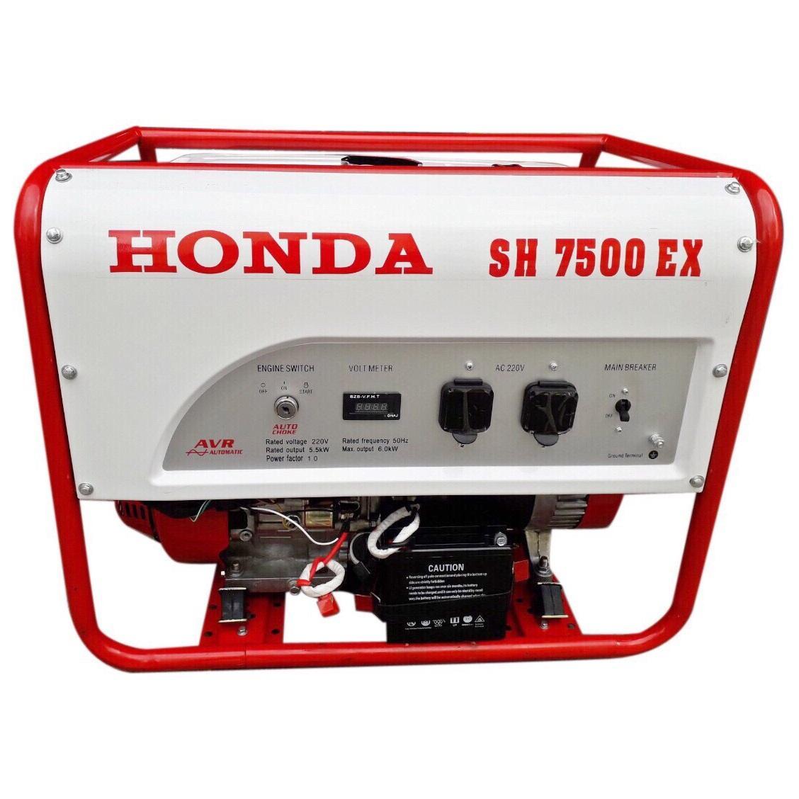 Máy Phát Điện Honda 6kw SH7500 Chạy Xăng & Đề Nổ