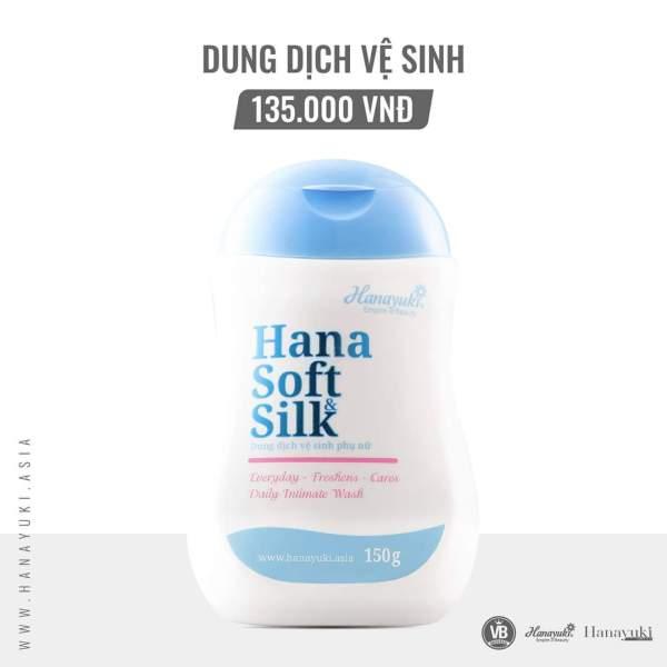 [Chính hãng-Date 2023] DUNG DỊCH VỆ SINH PHỤ NỮ HANAYUKI- HANA SOFT&SILK
