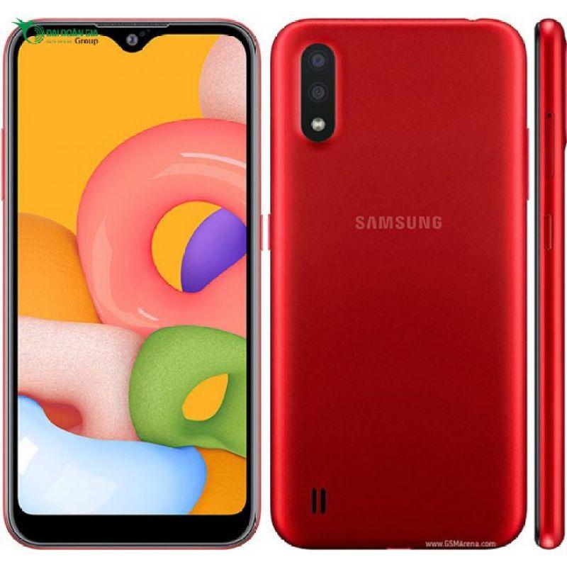 Điện thoại Samsung Galaxy A01   Máy được trang bị con chip 8 nhân với xung nhịp cao nhất đạt 1.95 GHz đi kèm là dung lượng RAM 2 GB và bộ nhớ trong 16 GB   Hàng chính hãng bảo hành 12 tháng