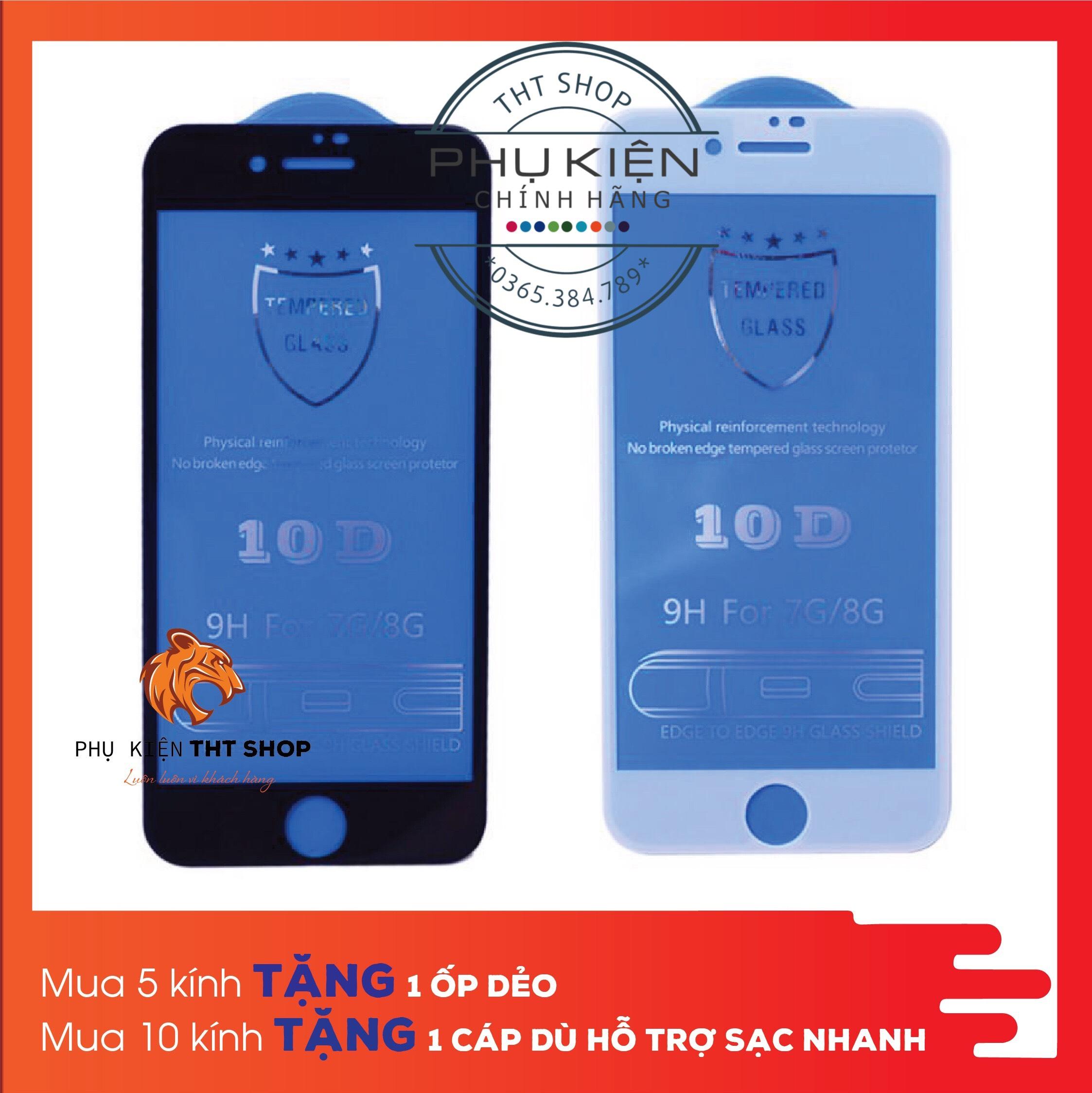 Kính Cường Lực 10D Cho Iphone 6Plus/6SPlus/6/6s/7 8 7plus 8plus X Xs Xsmax  Siêu Bền Giá Quá Ưu Đãi