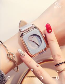 Đồng hồ Nữ GUOU TICHIS Dây Mềm Mại đeo rất êm tay - Kiểu Dáng Apple Watch 40mm - Đồng hồ nữ cao cấp, Đồng hồ nữ kính sapphire, Đồng hồ nữ thời trang, Đẹp,Sang trọng,Đẳng cấp, Bền, Giá Sốc, Đồng hồ nữ hàn quốc 7