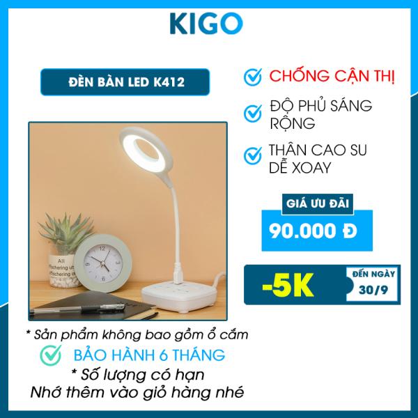 Bảng giá Đèn led siêu sáng Kigo học để bàn chống cận thị, đèn led live stream trang trí phòng học, phòng ngủ K412