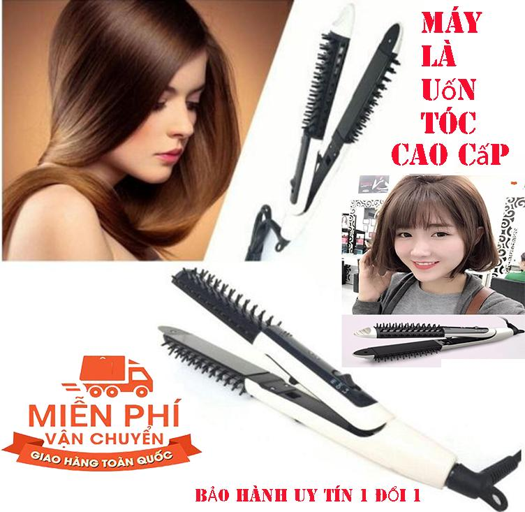 Lược Điện Máy là uốn tóc RUIDA 3 trong 1 - Tạo Kiểu Đa Năng Như Tóc Xoăn Ngắn, Tóc Ngang Lưng Uốn Cụp - Bấm Tóc vv... Bảo Hành Uy Tín Lỗi 1 Đổi 1 .bởi POPPY-KA chính hãng