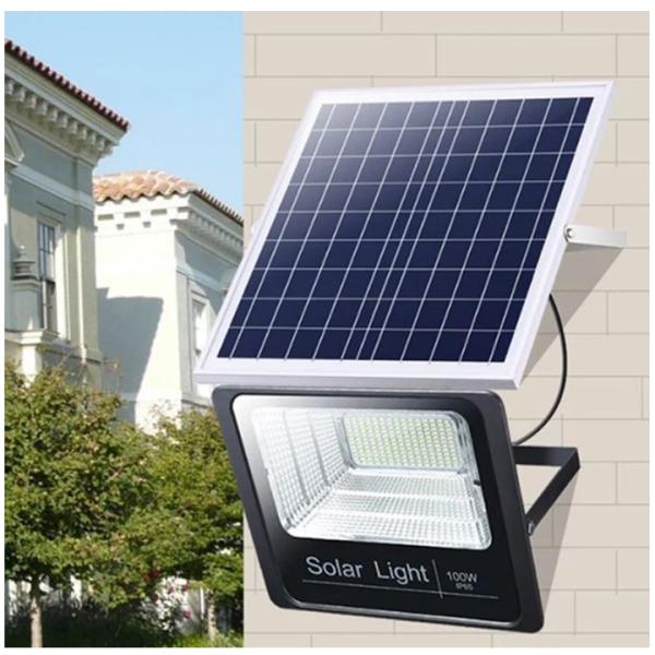 ĐÈN NĂNG LƯỢNG MẶT TRỜI 100W SOLAR LIGHT - Loại đèn pha, vỏ nhôm chống nước IP67