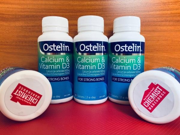 Ostelin Calcium & Vitamin D3- Canxi cho bà bầu 130 viên mẫu mới