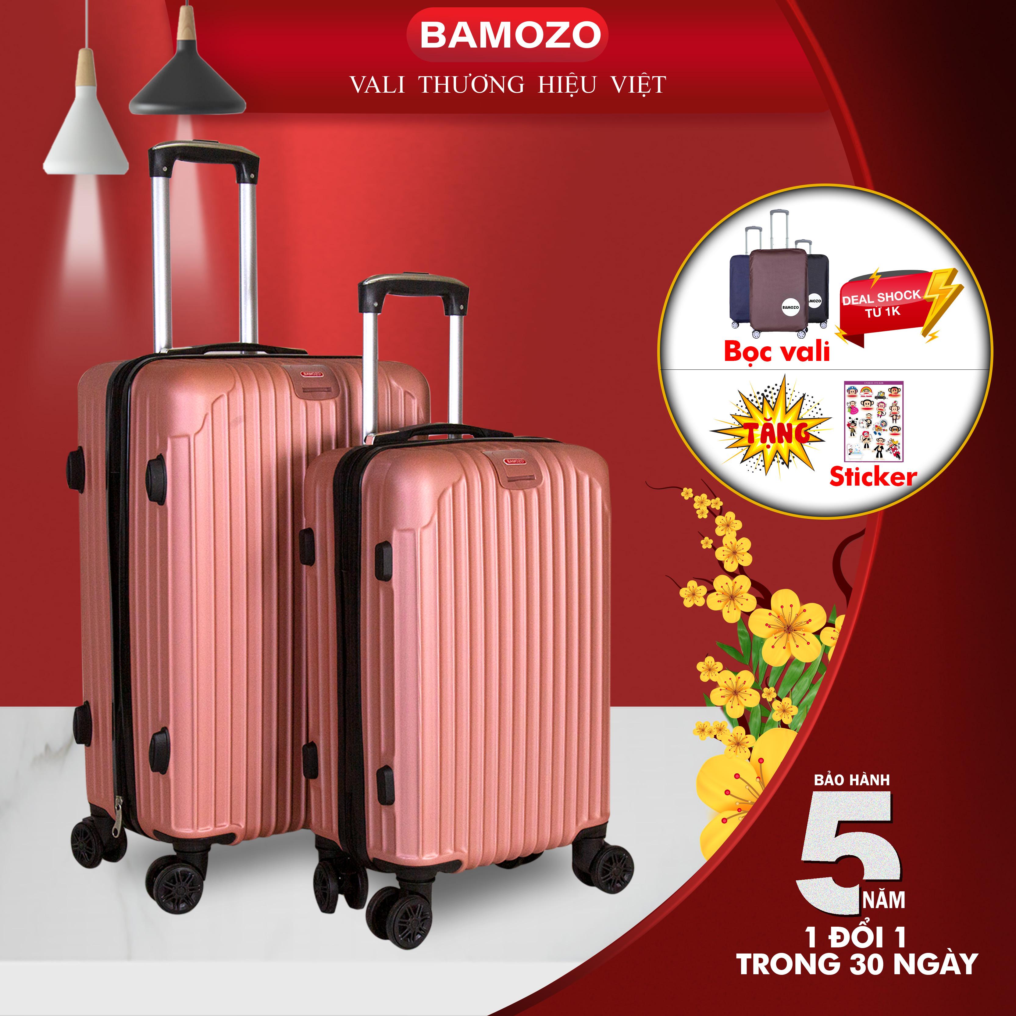 vali kéo du lịch Vali Bamozo BMZ-8801 20inch/24inch nhựa cao cấp - Bảo hành 5 năm