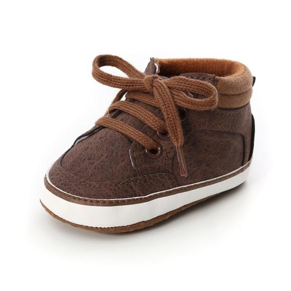 Giày vải tập đi dạng bốt cột dây dành cho bé trai đế giày chống trơn trượt giày tập đi giá rẻ