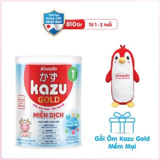 [Tinh tuý dưỡng chất Nhật Bản] Sữa bột KAZU MIỄN DỊCH GOLD 810g 1+ thumbnail