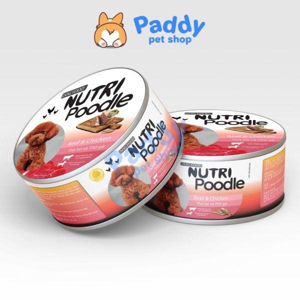 Pate Lon Nutri Poodle Dinh Dưỡng Tổng Hợp Cho Chó Poodle (160g)