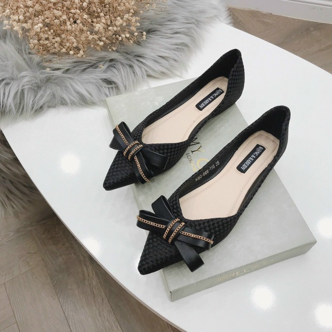 Giày búp bê , giày bệt nữ nơ xích siêu xinh giá rẻ
