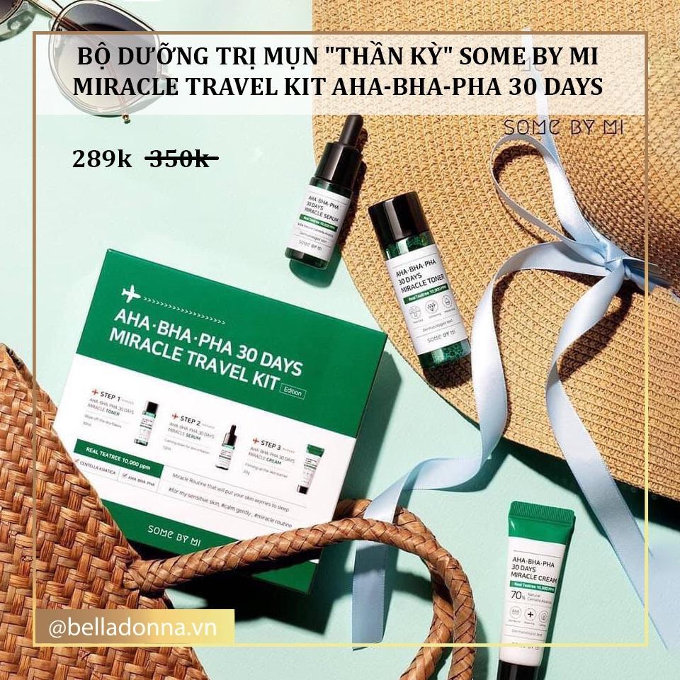 [Có Mã Giảm Giá] [Kit 3 Items] [Trị Sạch Mụn Chỉ Trong 30 Ngày] Bộ Dưỡng Trị Mụn Thần Kỳ Some By Mi Miracle Travel Kit AHA-BHA-PHA 30 Days chính hãng