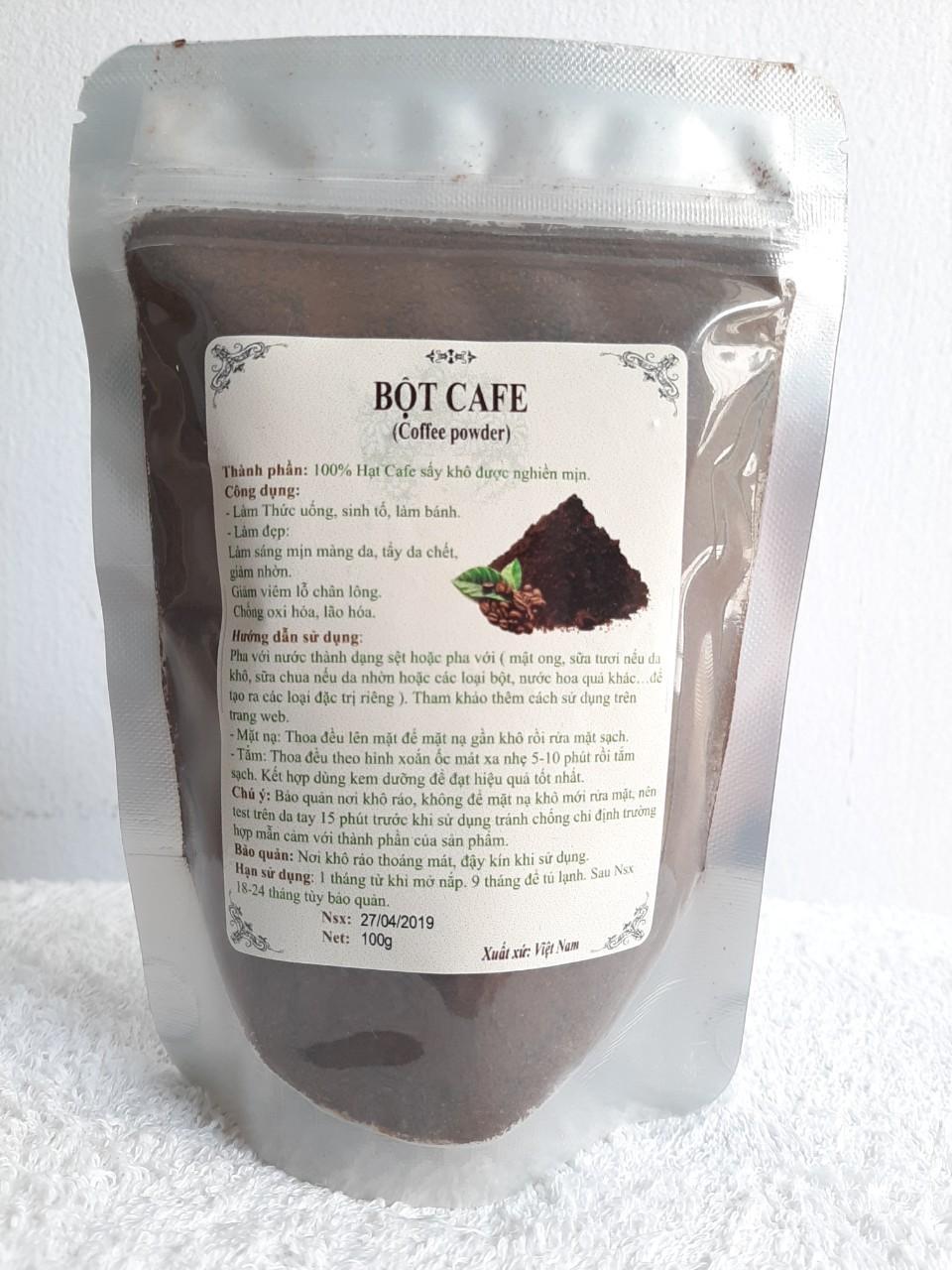 Bột cafe tẩy tế bào chết, dưỡng sáng mịn, trị mụn 100gr cao cấp