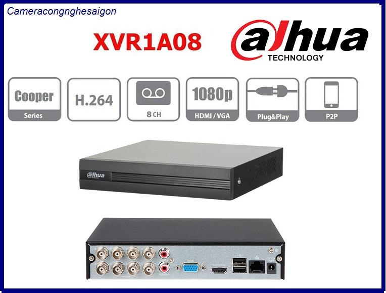 Đầu ghi hình 8 kênh Hỗ trợ camera HDCVI/ Analog/ IP/ TVI/ AHD. Dahua XVR1A08