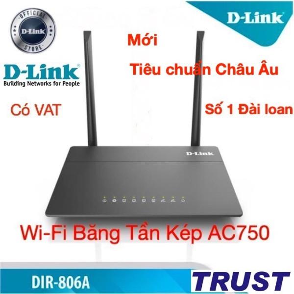 Bảng giá [Tiêu chuẩn Châu Âu ] D-Link Bộ Phát Wi-Fi Băng Tần Kép AC750 750Mbps DIR-806A (Đen) - Bảo Hành 24 Tháng Phong Vũ