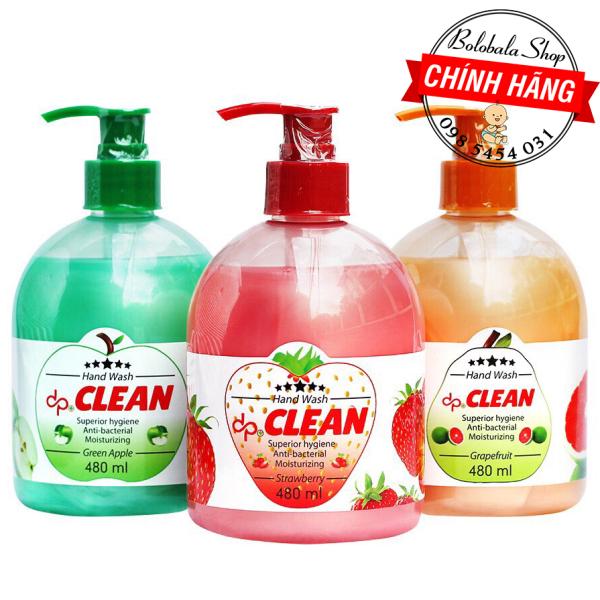 Sữa rửa tay dp Clean 480ml diệt khuẩn, dưỡng da tay