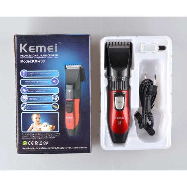 Tông đơ hớt tóc Kemei KM-730 sạc điện cho bé, Dụng cụ cắt tóc cao cấp