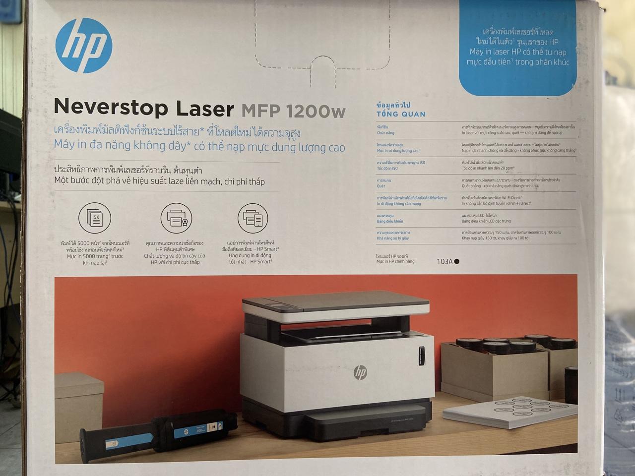 Máy in đa chức năng HP Neverstop Laser MFP 1200w - Tặng kèm 01 hộp mực hp 103 chính hãng