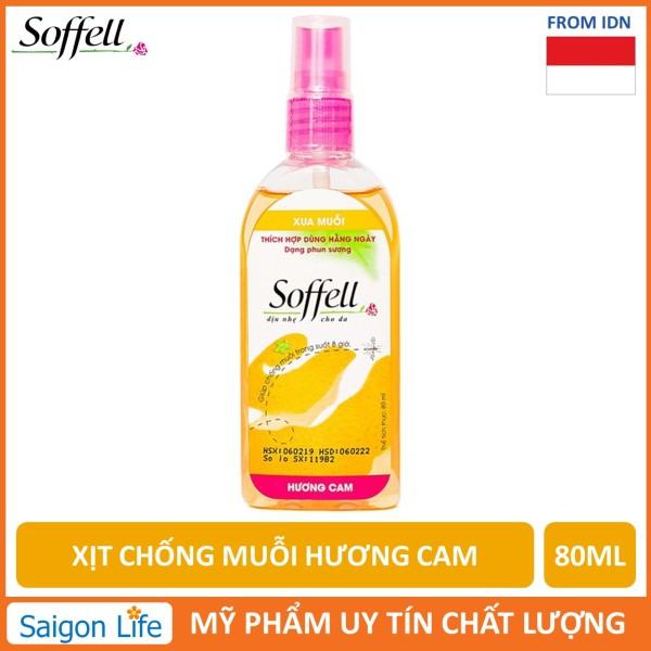 Xịt Chống Muỗi Hương Cam Soffell 80ml giá rẻ