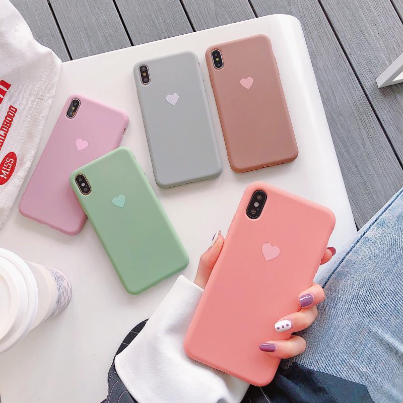 Giá Ốp Lưng Trái Tim iPhone Dẻo  Từ 6 đến XS Max  [ TI STORE ]