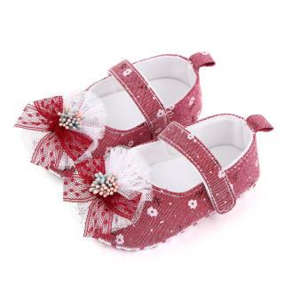 Tootplay 1 Đôi Giày Em Bé, Giày Trẻ Tập Đi Đế Mềm Họa Tiết Hoa Bằng Cotton Cho Bé 3-12 Tháng Tuổi