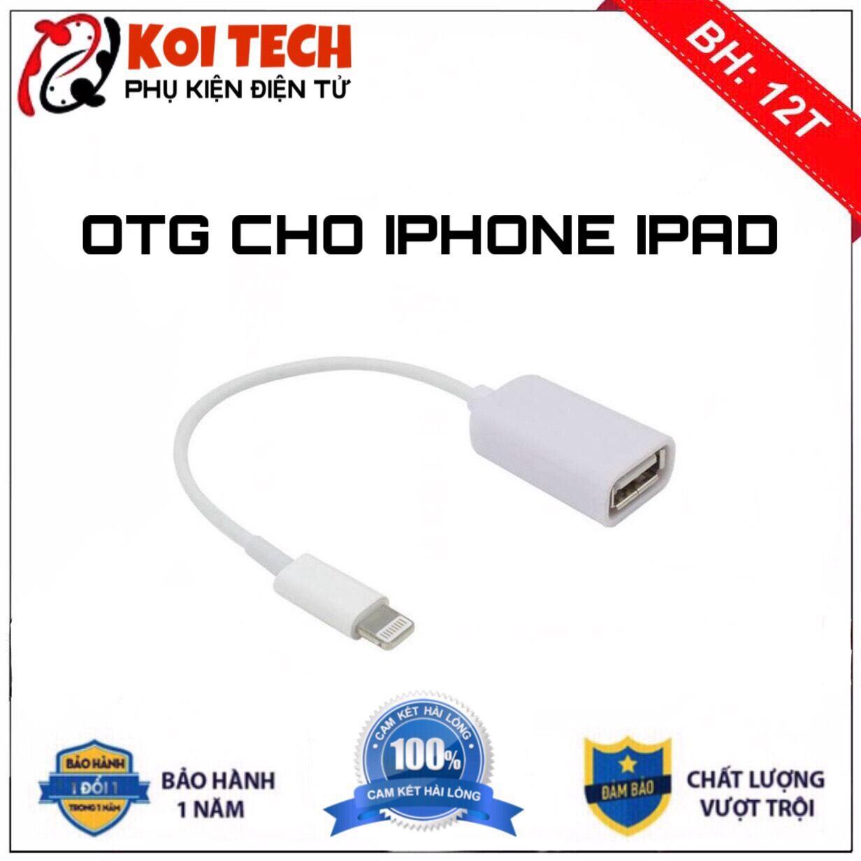 Giá CÁP OTG CHO IPHONE IPAD - Cáp OTG cho iphone ipad cổng Lightning - OTG lightning Đầu chuyển Jack chuyển adapter chuyển