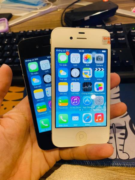 Điện thoại smartphone giá rẻ - iphone 4 16/8gb quốc tế lắp được sim dùng xem youtube