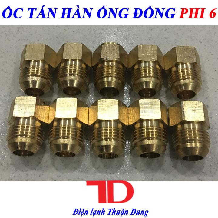Combo 10 Ốc Tán Ống Đồng Răng Ngoài Phi 6
