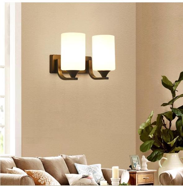 Đèn gắn tường đôi trang trí phòng ngủ, phòng khách độc đáo - Kèm bóng led