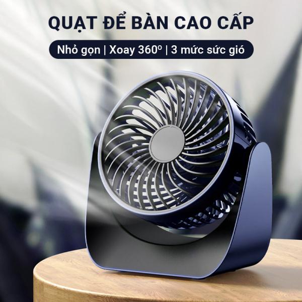 Quạt để bàn công suất 4W Cát Thái F118 vận hành êm ái âm thanh siêu nhỏ, có thể sạc pin dung lượng 2000mAh, xoay chỉnh hướng gió 360 độ, kích thước nhỏ gọn, thao tác bằng cảm ứng