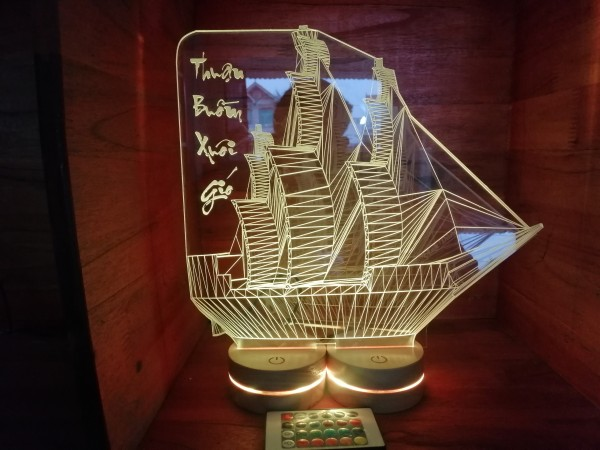 Đèn Thuyền 3D