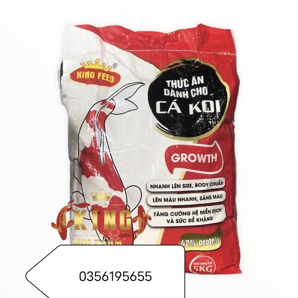 Thức ăn tăng trưởng cá koi KINGFEED_GROWTH 42% đạm (Túi 5kg)