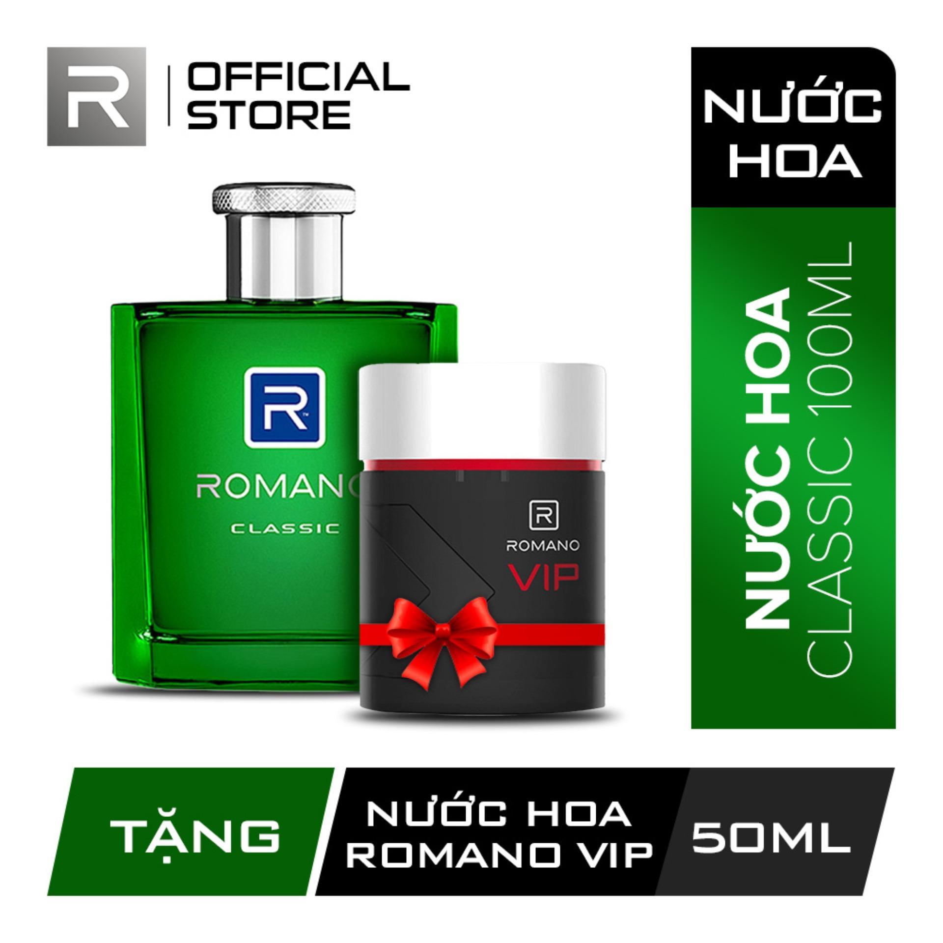 [Tặng Nước hoa Romano Vip 50ml] Nước hoa cao cấp Romano Classic 100ml