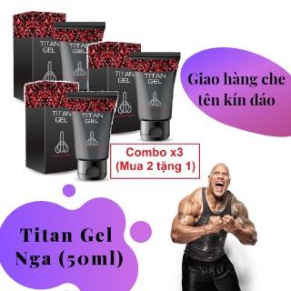 Combo x3 (Mua 2 tặng 1) (Lô mới nhất) Titan Gel Nga cao cấp - Gel dành cho nam - hàng chính hãng - tăng kích thước cho cậu bé (Che tên khi giao hàng) thumbnail