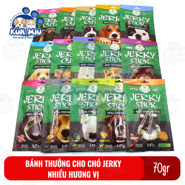 Bánh thưởng cho chó Jerky 70gr nhiều hương vị