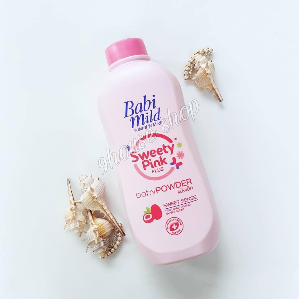 Phấn Babi Mild Thái Lan Màu HỒNG  Sweet Pink 400gr cao cấp
