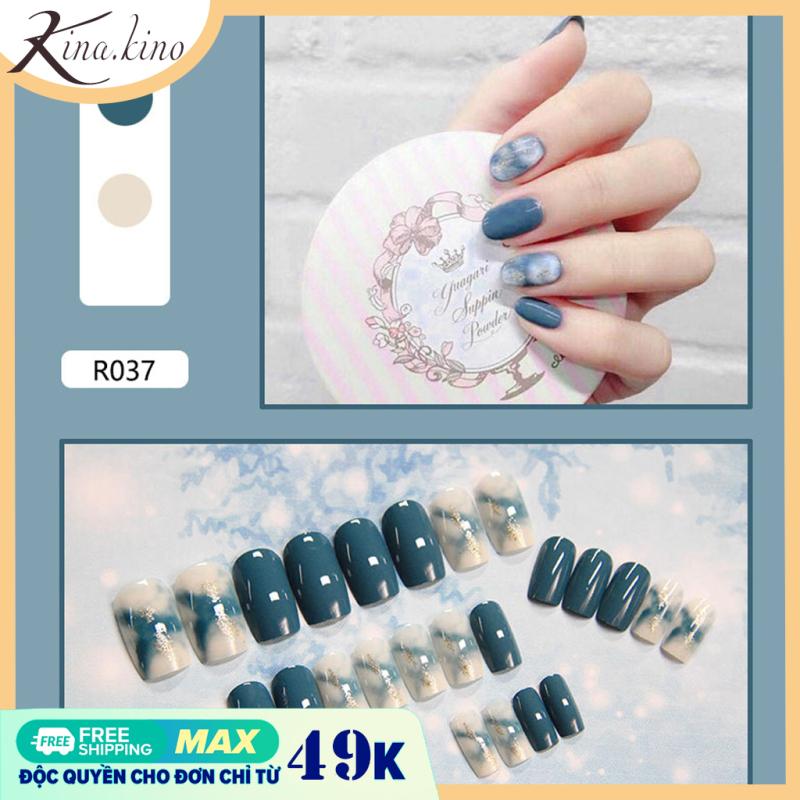 Hộp 24 Móng tay giả, nail giả, móng giả ( Kèm keo )- KinaKino giá rẻ