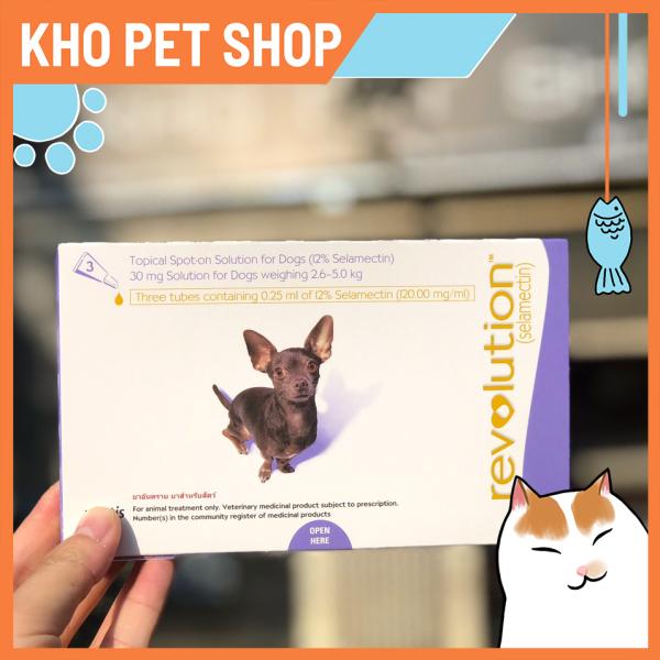 Nhỏ gáy trị rận Revolution cho chó 2.6-5kg (1 tuýp)