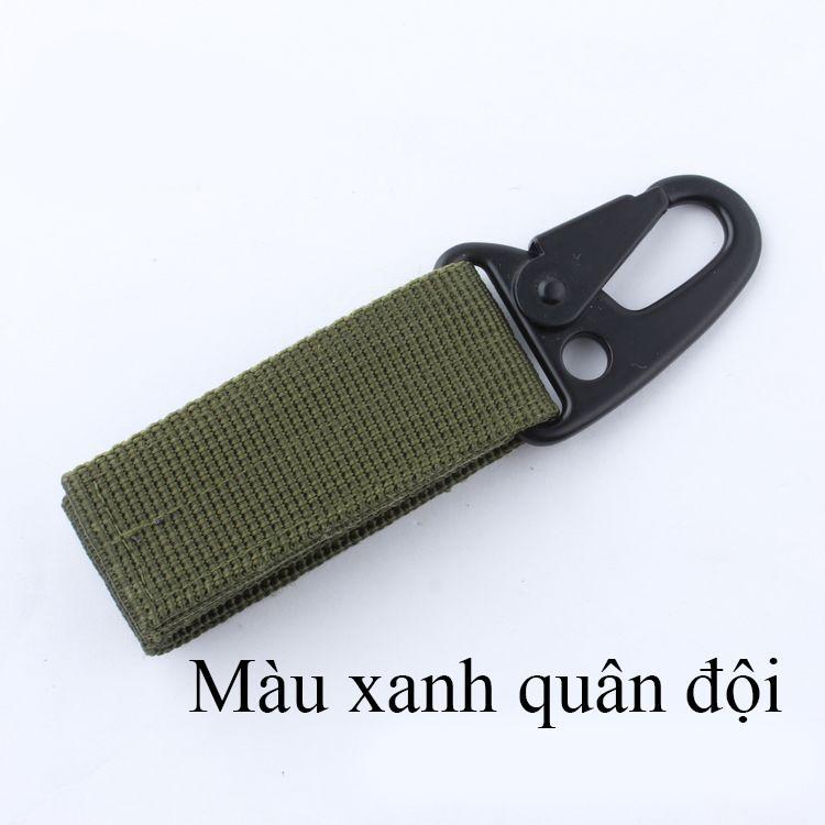 Móc chìa khóa gài thắt lưng kiểu lính
