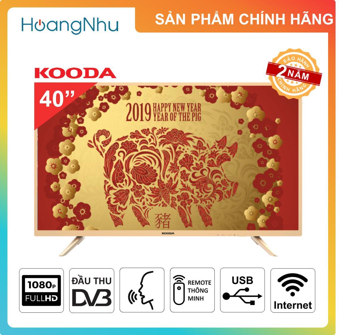 Bảng giá Smart TV 40 inch Kooda K40VS6 (điều khiển giọng nói, Full HD, tích hợp đầu thu KTS)