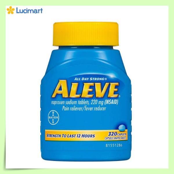Viên uống giảm nhanh cơn đau nhức từ Mỹ ALEVE Pain Reliever, 320 viên